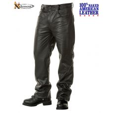 Xelement Naked American Cowhide Leather 5 Pocke...
